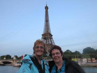 with brenda in front of the eiffel tower