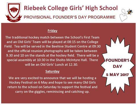 Founders day 2017 riebeek college girls high school uitenhage founders day promo2 m4hsunfo