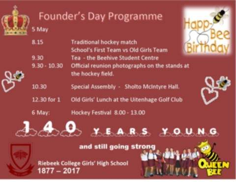 Founders day 2017 riebeek college girls high school uitenhage programme for founders day m4hsunfo