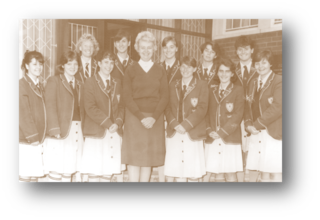 Mrs Stear with the 1988 prefects in her first year as principal of Riebeek.