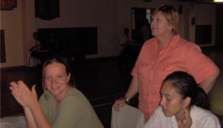Miss Bekker at a drama rehearsal for Impi