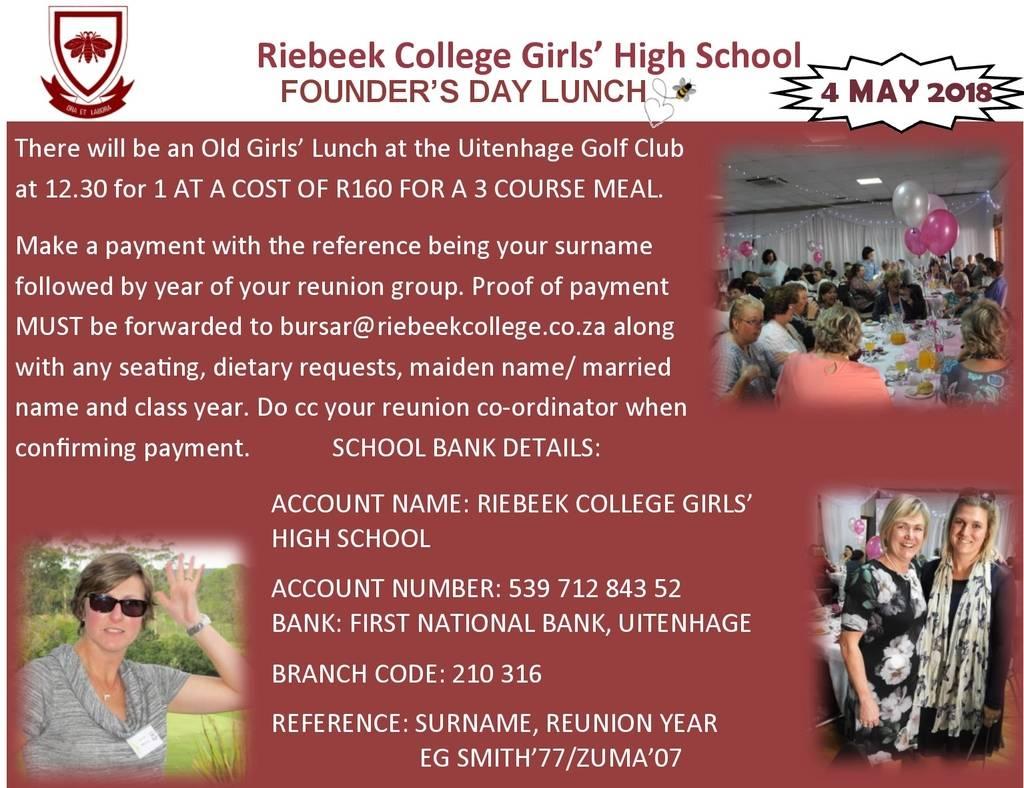 Founders Day 2018 Riebeek College Girls High School Uitenhage